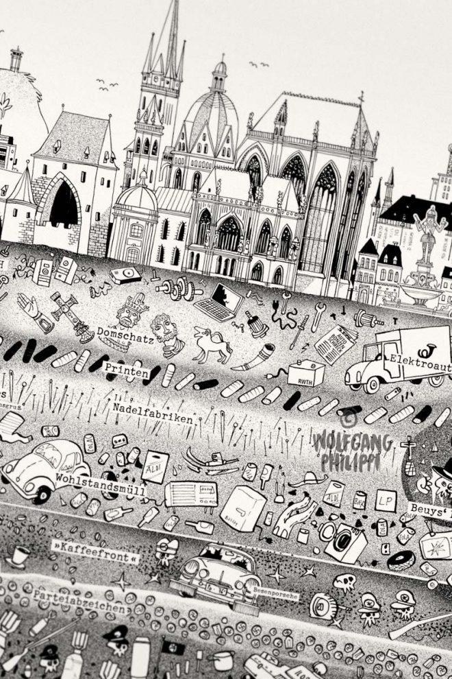 Wolfgang Philippi Aachen Stadtplakat