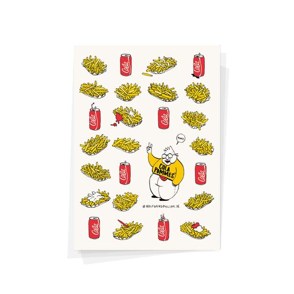 Cola Pommes Karte Wolfgang Philippi