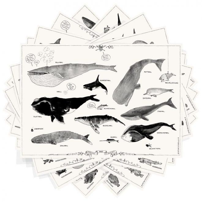 Fischplakate 8er Set Wolfgang Philippi