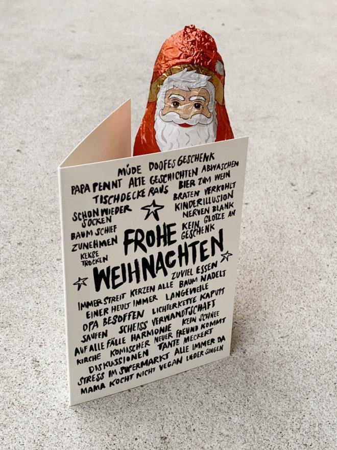 Weihnachten Karte Wolfgang Philippi