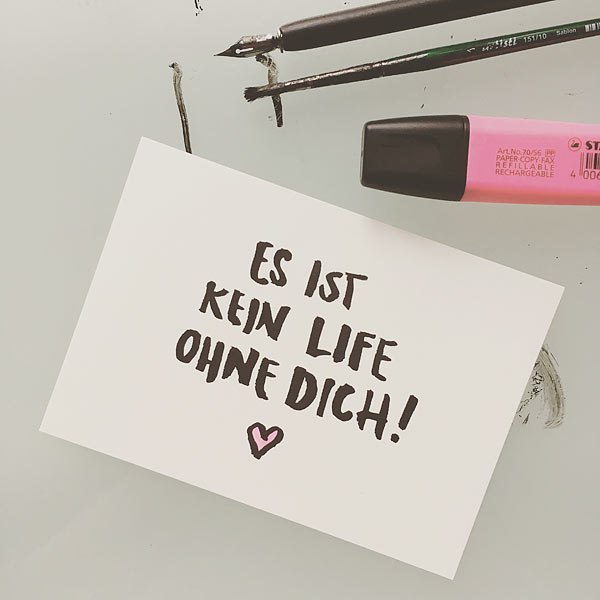 Kein Life ohne Dich Karte Wolfgang Philippi
