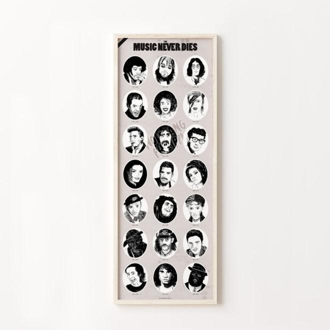 Wolfgang Philippi Music Never Dies Plakat