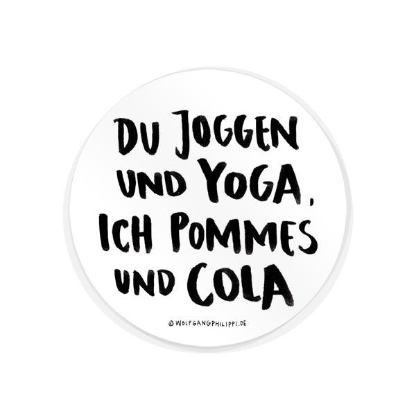 Pommes Yoga Aufkleber Wolfgang Philippi