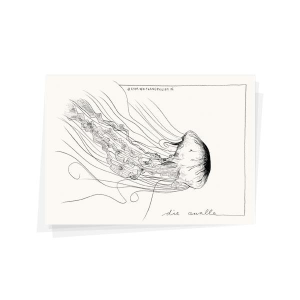 Qualle Karte Wolfgang Philippi