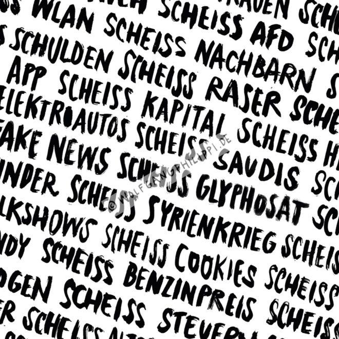 Wolfgang Philippi Riesen Scheiss Plakat