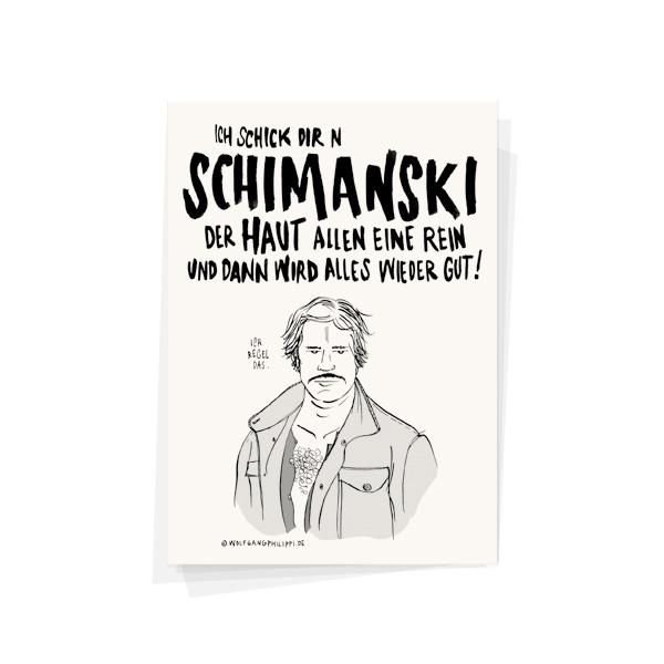 Schimanski Karte Wolfgang Philippi