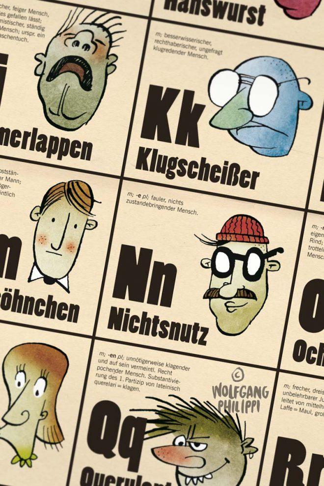 Wolfgang Philippi Schimpfort ABC Plakat