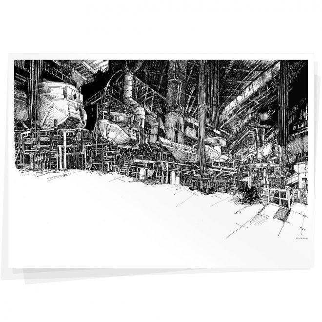 Stahlwerk Plakat Wolfgang Philippi