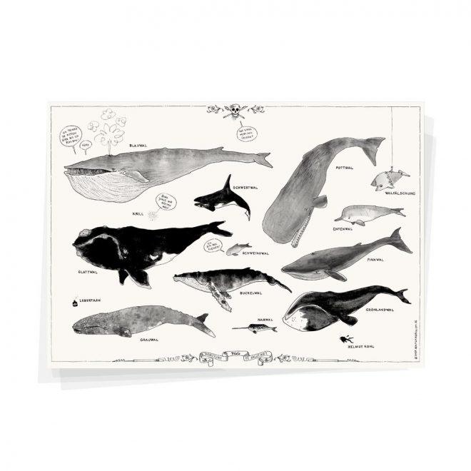 Wale Plakat Wolfgang Philippi