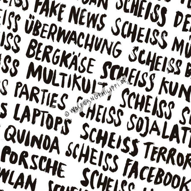 Wolfgang Philippi Scheiss Plakat Österreich
