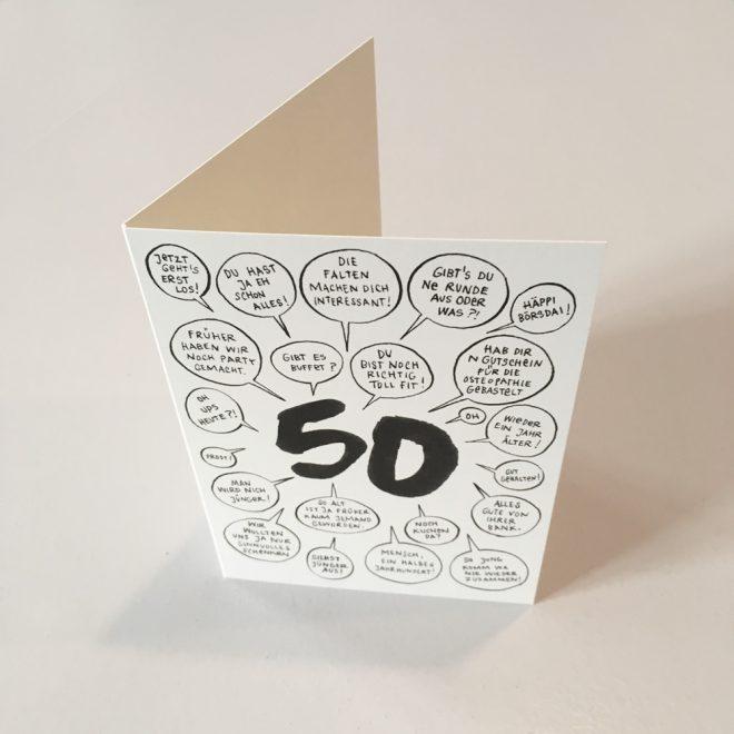 Wolfgang Philippi 50 Geburtstag Karte