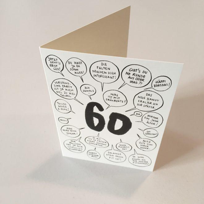 Wolfgang Philippi 60 Geburtstag Karte