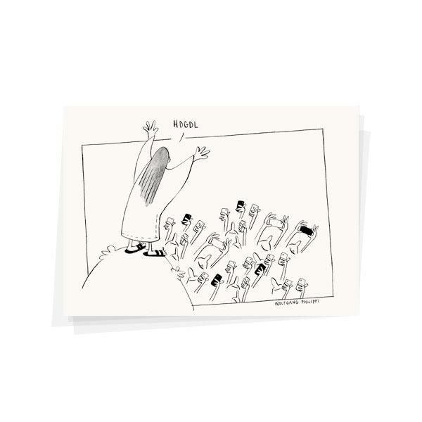 Wolfgang Philippi Jesus Karte