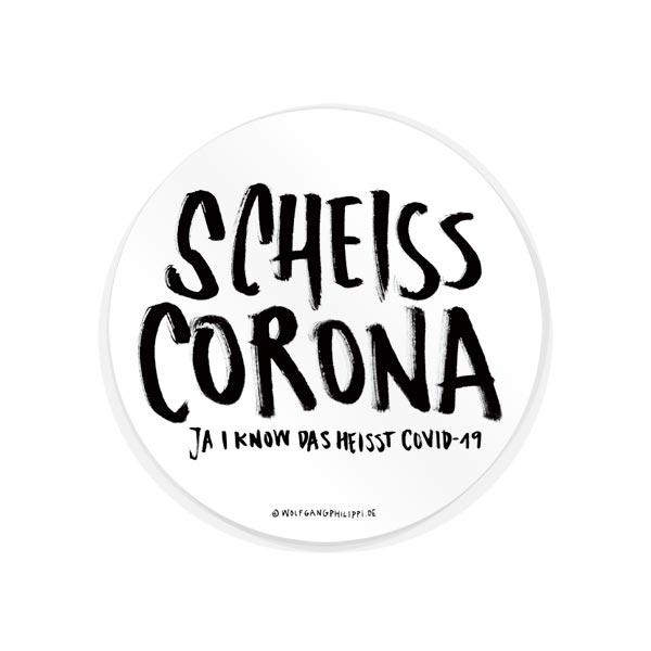 Wolfgang Philippi Scheiss Corona Aufkleber