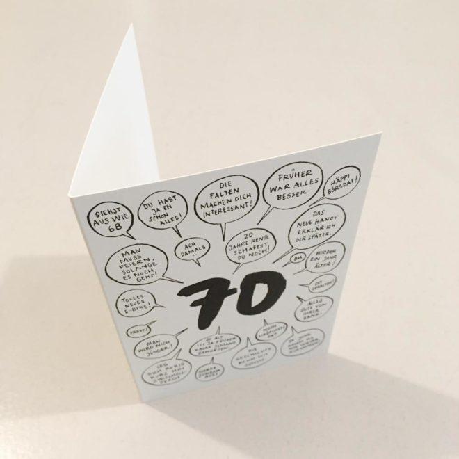 Wolfgang Philippi 70 Geburtstag Karte